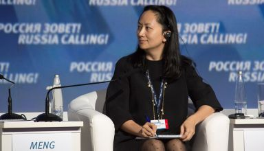 "Image: Huawei's Executive Board Director Meng Wanzhou attends the VTB Capital Investment Forum ""Russia Calling!"" in Moscow"